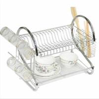 厨房型置物架不锈钢收纳架沥水篮双层沥水架碗碟架多功能晾碗架