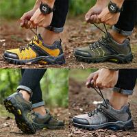 秋季透气户外鞋男登山鞋防水防滑徒步鞋旅游运动爬山鞋