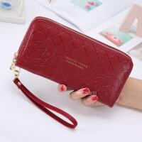 新款大容量钱包女长款学生韩版双层零钱包女士双拉链手拿包手机包