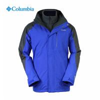 Columbia/哥伦比亚户外男款防水透气热能三合一冲锋衣PM7608