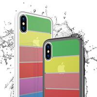 免邮 iphone手机壳 彩虹玻璃壳 iPhone X 7 8 plus iphone6 6S plus 手机套 保护
