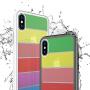 免邮 iphone手机壳 彩虹玻璃壳 iPhone X 7 8 plus iphone6 6S plus 手机套 保护套 保护壳