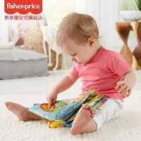 费雪缤纷动物学习布书FGJ40 早教儿童撕不烂可咬宝宝布书婴儿玩具