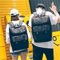 牛津布全防水电脑包背包双肩包男时尚潮流旅行包高中生书包女学生SN6758 黑色