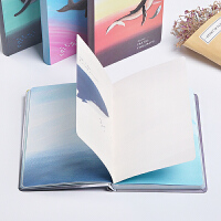 32k精装本 小清新手绘鲸鱼记事本 创意彩页日记本本子