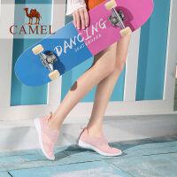 camel骆驼女鞋2019春季新款网面运动鞋女轻盈舒适百搭网红鞋平底单鞋女