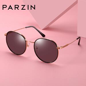 帕森时尚太阳镜2019新品女士复古金属炫彩墨镜板材开车驾驶镜