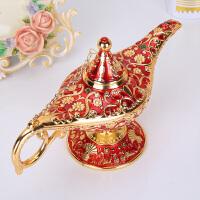 阿拉丁神灯锡器复古欧式工艺品合金创意俄罗斯许愿灯家居金属摆件