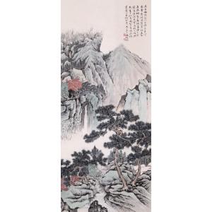 著名画家  冯超然《松山幽居图》