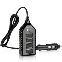 高欣车载充电器G4手机通用7.2A高速一拖四USB点烟器转接头汽车充