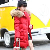 女童羽绒服中大童中长款加厚童装女孩季外套2017新款韩版潮