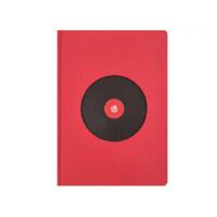 网易云音乐经典红笔记本创意精装日记本简约学生文具记事本手账本