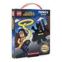 英文原版绘本 LEGO Super Heroes Phonics超级英雄系列 12册自认拼读盒装 乐高 儿童分级阅读