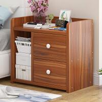 亿家达 床头柜简约现代卧室收纳文件柜子创意小置物柜储物柜斗柜白色组装
