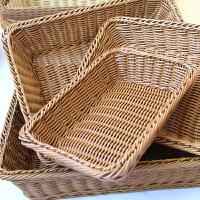 仿藤编面包篮子面包筐水果篮干果盘果盆果盘长方形水果篮