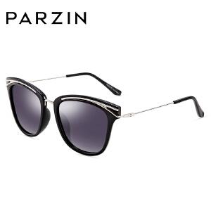 帕森偏光太阳镜 女 复古炫彩膜大框猫眼造型潮墨镜 9830
