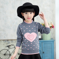 儿童羊毛衫秋款女童加绒毛衣中大童12-15岁女孩加厚套头打底衫9