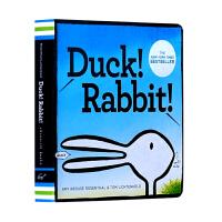 【中商原版】凯迪克 鸭子还是兔子 Duck! Rabbit!思维拓展 纸板书 吴敏兰书单 绘本123