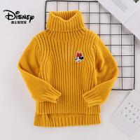 迪士尼宝宝森林小世界女童针织圆领毛衣2018秋款上新