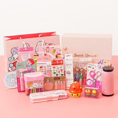 开学季文具大礼包 卡通15件立体文具套装礼盒 小学生奖品礼品