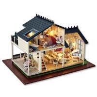 diy小屋手工制作房子模型玩具大型别墅生日礼物女生男孩子
