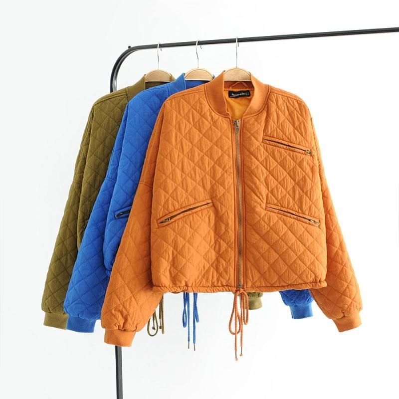 女装秋冬欧美范宽松大码拉链立领短款小棉衣外套女 一般在付款后3-90天左右发货,具体发货时间请以与客服协商的时间为准