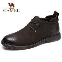 【下单立减120元】camel骆驼男鞋 秋季新款舒适潮流休闲鞋牛皮防滑中帮休闲靴男靴