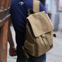 双肩包男士包包休闲帆布背包旅行包韩版女时尚潮流学生书包