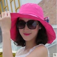 防晒帽子女网红同款时尚韩版潮大沿太阳帽韩国户外运动新品紫外线女士沙滩遮阳帽
