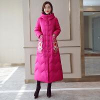 中国风棉衣女2018新款韩版冬季中长款加厚民族风羽绒过膝棉袄