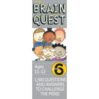 英文原版 智力开发系列:6年级益智 Brain Quest Grade 6, revised 4th edition: 1,500 Questions