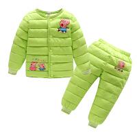 儿童装羽绒套装装男童女童棉衣棉裤两件套宝宝棉内胆2件套