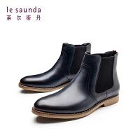 莱尔斯丹 秋冬专柜款时尚休闲切尔西靴男靴 9TM85702