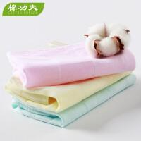 纯棉儿童方巾全棉吸水柔软亲肤小毛巾纱面巾3条组 吸水童巾宝宝毛巾