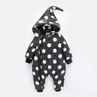 2017新款新生儿婴幼儿童爬服婴儿羽绒连体衣季男女宝宝哈衣