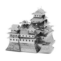 爱拼 全金属 DIY拼装模型 3D纳米立体拼图 日本姬路城 黄铜版 不锈钢版