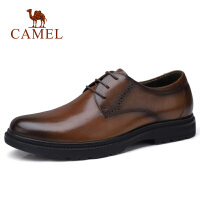 camel骆驼男鞋 秋季新品男士商务休闲系带皮鞋正装英伦绅士鞋子男