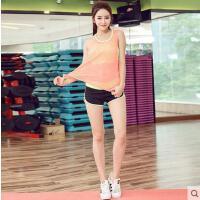新款舞蹈瑜伽健身跳操三件套 瑜伽服套�b女士春夏健身�\�犹籽b