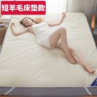 羊毛床垫加厚双人床褥子1.8m榻榻米床防滑软垫被垫子1.5m 短毛-床垫款