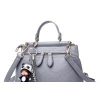 女士包包软皮约百搭斜挎小方包小包手提包斜跨女包世帆家SN3246 浅灰色 (荔枝皮纹)