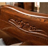 老榆木全实木家具气压高箱储物婚床现代新中式1.8米双人pk胡桃木