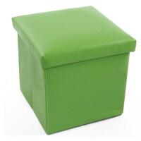 普润PU皮收纳凳 储物凳 换鞋凳 绿色