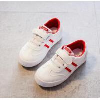 小白鞋男童新款运动休闲鞋女童学生鞋子中大童韩版潮款潮