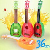 宝宝儿童益智乐器玩具吉他批发水果吉他迷你可弹奏尤克里里36厘米