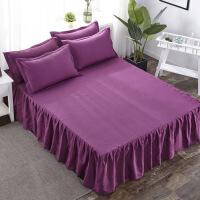 床罩床裙式床套单件席梦思床垫罩保护套防尘罩1.5m1.8米床单床笠 +枕套