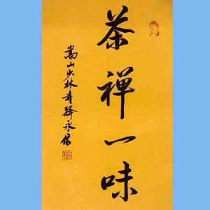 第九十十一十二届全国人大代表,少林寺方丈释永信(禅茶一味)
