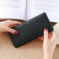 抖音零钱包女士长款2018新款搭扣超薄款多功能韩版个性小清新百搭皮夹