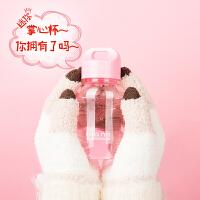 Bianli倍乐迷你可爱塑料水杯便携儿童创意小蛮腰随手暖手水壶杯子180ml 001102