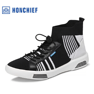 HONCHIEF 红蜻蜓旗下 2017春秋新款时尚舒适织物男士休闲鞋男鞋