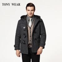 TONY WEAR/汤尼威尔秋冬男士商务休闲针织休闲大衣长袖大衣